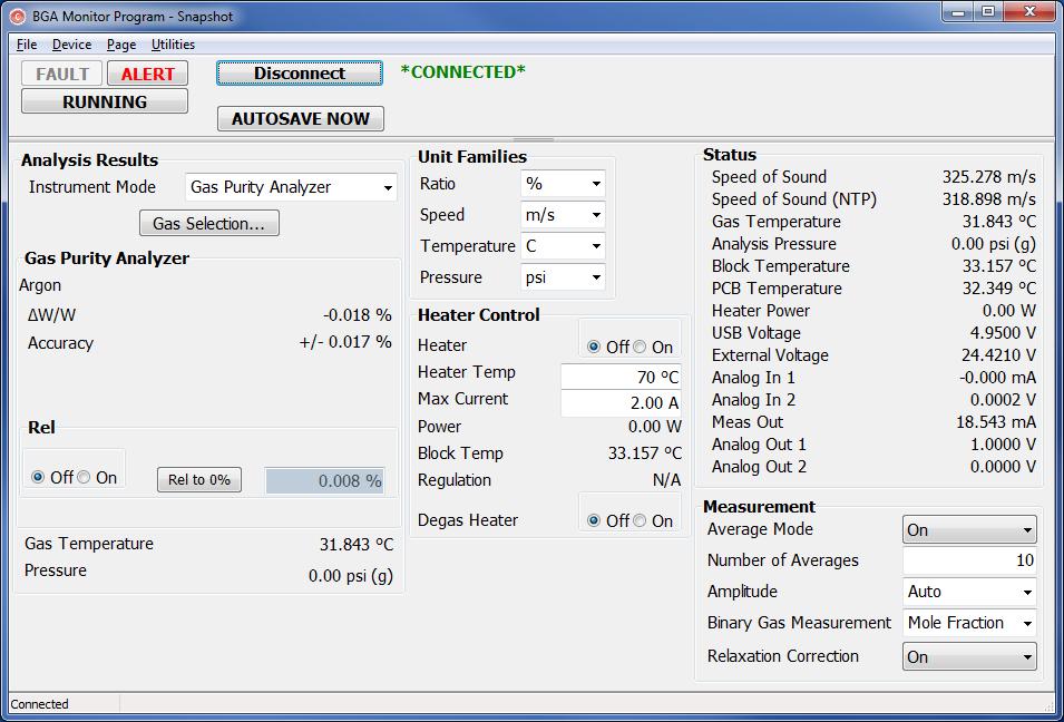 Binary Gas Analyzer - BGA244