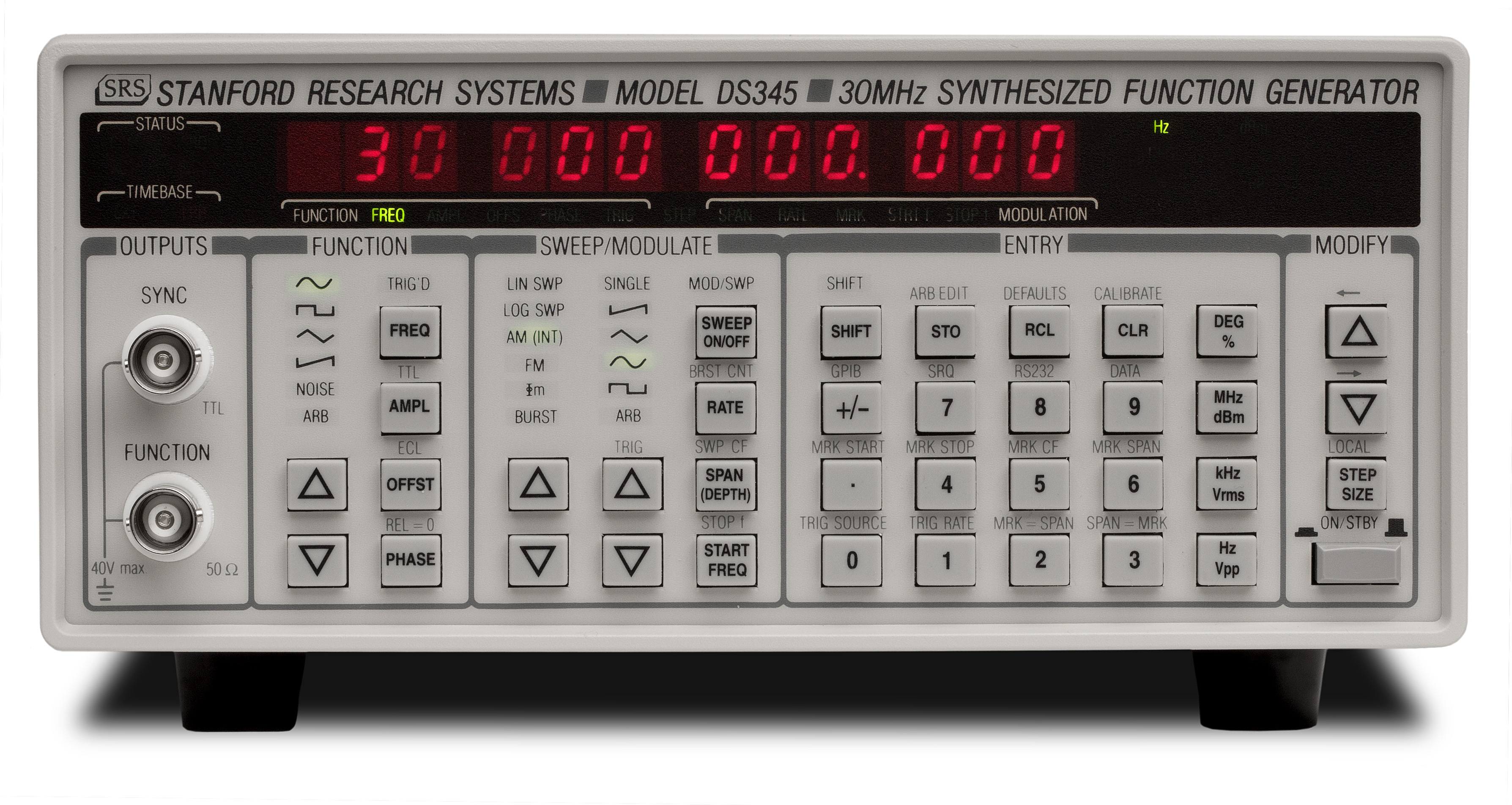 function generator ds345 rh thinksrs com Function Generator Diagram Synthesized Function Generator
