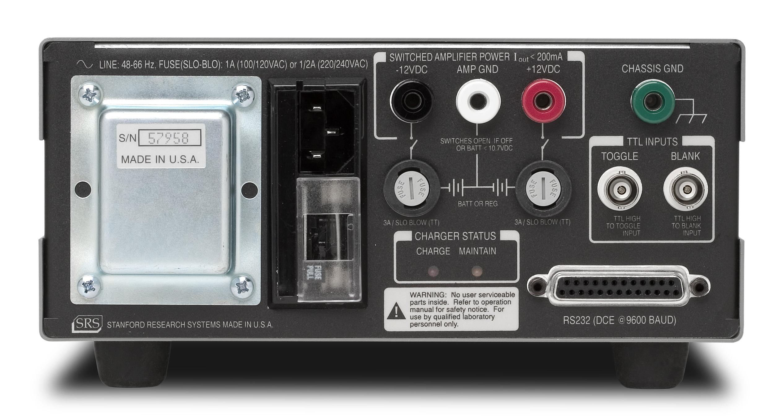 Low Noise Current Preamplifier - SR570