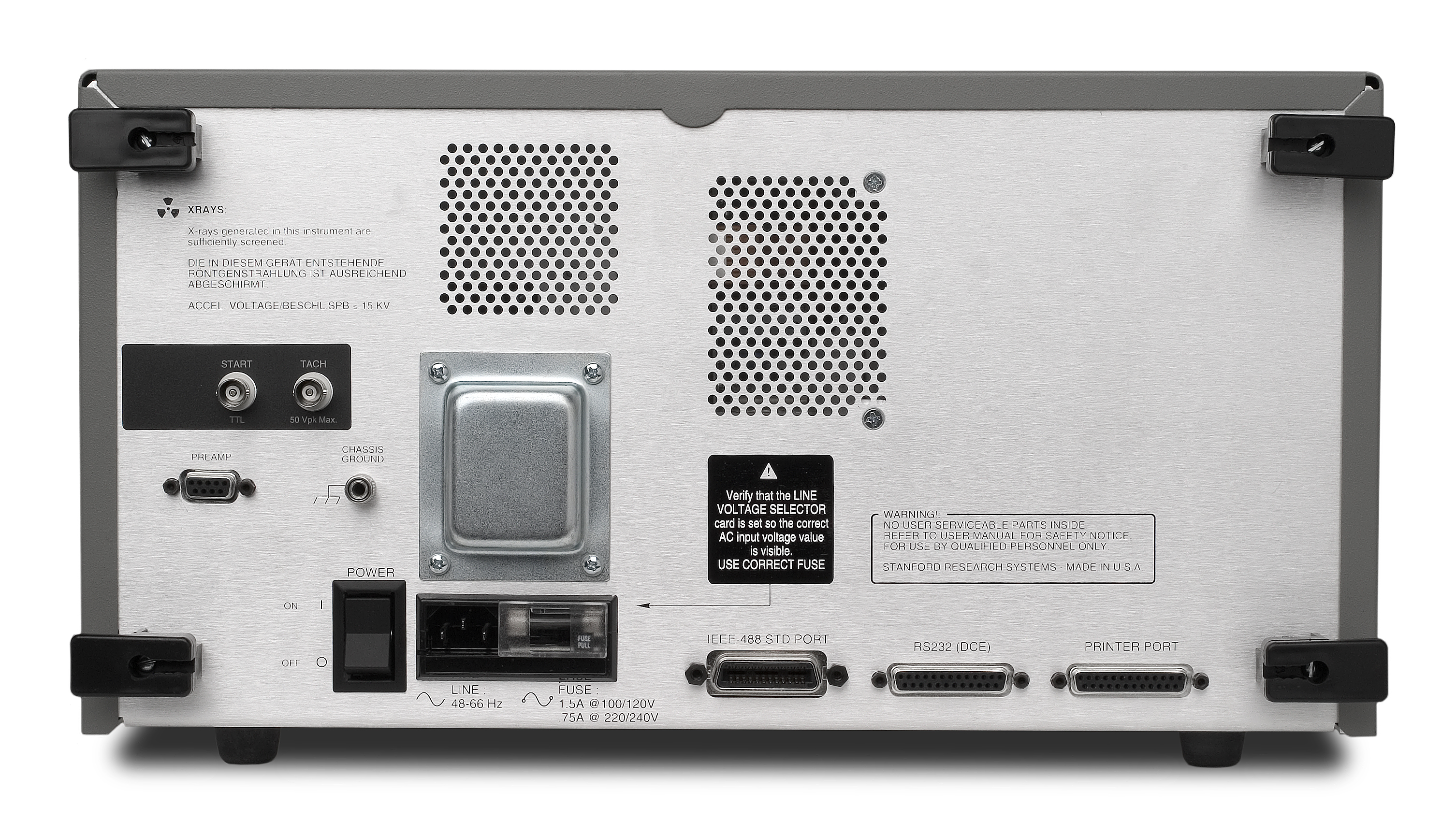 Dynamic Signal Analyzer Sr785 Fast Digital Lockin Amplifier For Spectrum Extraction Rear Panel